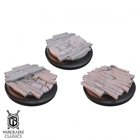 Warcradle Classics - Red Oak Medium Base Toppers